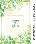 save the date card with... | Shutterstock .eps vector #1014125659