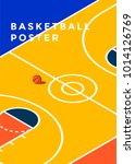 basketball tournament  minimal... | Shutterstock .eps vector #1014126769