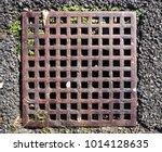 rust metal of cover drain hose... | Shutterstock . vector #1014128635