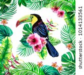 prints for textiles watercolors ... | Shutterstock . vector #1014133561
