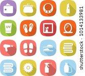 flat vector icon set   wallet... | Shutterstock .eps vector #1014133981