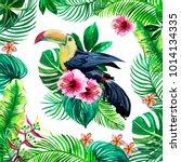 print for textiles watercolor... | Shutterstock . vector #1014134335