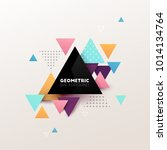 abstract geometric background.... | Shutterstock .eps vector #1014134764