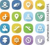 flat vector icon set   pointer... | Shutterstock .eps vector #1014136591