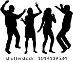 dancing people silhouettes.... | Shutterstock .eps vector #1014139534