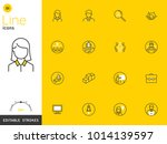 office and business line yellow ... | Shutterstock .eps vector #1014139597