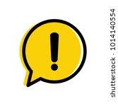 yellow warning mark. danger... | Shutterstock .eps vector #1014140554