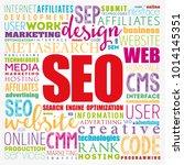 seo  search engine optimization ... | Shutterstock .eps vector #1014145351