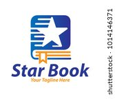star book logo | Shutterstock .eps vector #1014146371