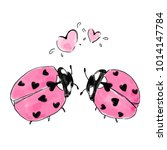 Two Ladybirds With Hearts....