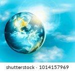 earth from space. best internet ... | Shutterstock . vector #1014157969