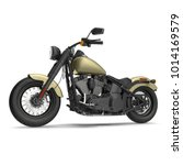 classic motorbike isolated on... | Shutterstock . vector #1014169579