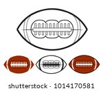 set of ball american football...
