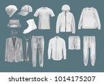 realistic set mockup men s... | Shutterstock .eps vector #1014175207