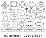 set of vector graphic elements... | Shutterstock .eps vector #1014175987