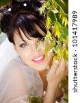beautiful bride on heir wedding ...   Shutterstock . vector #101417989