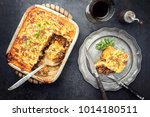 english shepherds pie as top... | Shutterstock . vector #1014180511