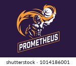 prometheus and a sports ball.... | Shutterstock .eps vector #1014186001