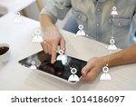 target audience. targeting.... | Shutterstock . vector #1014186097