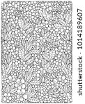 coloring book page with... | Shutterstock .eps vector #1014189607