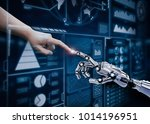 connection concept with human... | Shutterstock . vector #1014196951