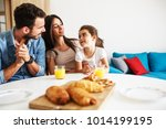 husband and wife with they... | Shutterstock . vector #1014199195