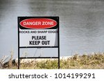 danger zone sign please keep... | Shutterstock . vector #1014199291