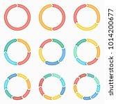 vector circle arrows for... | Shutterstock .eps vector #1014200677