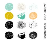 vector set of abstract hand... | Shutterstock .eps vector #1014200899
