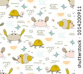 sea seamless pattern.... | Shutterstock .eps vector #1014200911