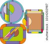 art deco vector colored... | Shutterstock .eps vector #1014202987