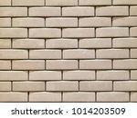 white mosaic tiles pattern | Shutterstock . vector #1014203509