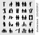 humans vector icon set. father  ... | Shutterstock .eps vector #1014203917