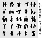 humans vector icon set. mother... | Shutterstock .eps vector #1014203959