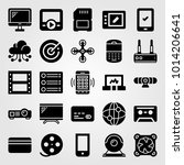 technology vector icon set.... | Shutterstock .eps vector #1014206641