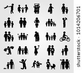 humans vector icon set. chield  ... | Shutterstock .eps vector #1014206701