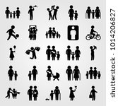 humans vector icon set.... | Shutterstock .eps vector #1014206827