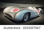 Small photo of STUTTGART, GERMANY-APRIL 7, 2017: Mercedes-Benz W 196 R 2.5-liter streamlined racing car in the Mercedes Museum. This car was driven by Juan Manuel Fangio.