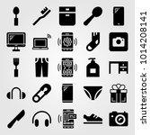 shopping vector icon set....   Shutterstock .eps vector #1014208141