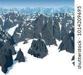 vector swiss alps mountains...   Shutterstock .eps vector #1014209695