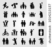 humans vector icon set.... | Shutterstock .eps vector #1014213157