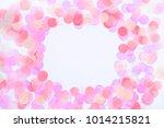 confetti border on white...   Shutterstock . vector #1014215821