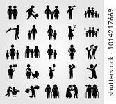 humans vector icon set.... | Shutterstock .eps vector #1014217669