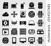 technology vector icon set. sd... | Shutterstock .eps vector #1014217681