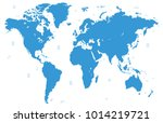 world map vector | Shutterstock .eps vector #1014219721