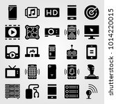 technology vector icon set.... | Shutterstock .eps vector #1014220015