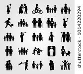 humans vector icon set.... | Shutterstock .eps vector #1014220294