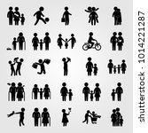 humans vector icon set. old... | Shutterstock .eps vector #1014221287