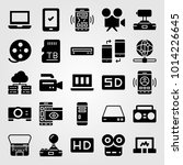 technology vector icon set.... | Shutterstock .eps vector #1014226645