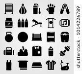 fitness vector icon set. scale  ... | Shutterstock .eps vector #1014226789